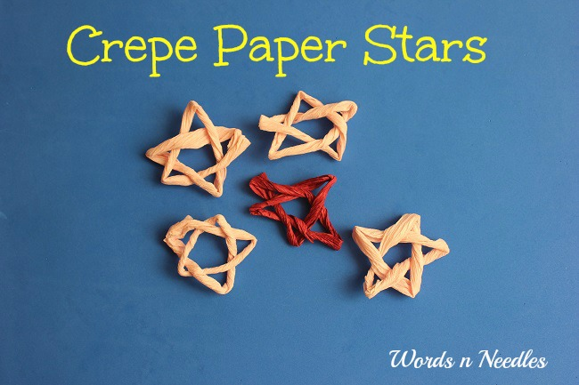 super easy crepe paper stars